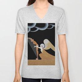 """Art Deco Design """"The Angel"""" Unisex V-Neck"""