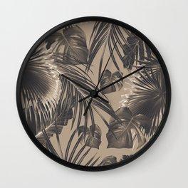Tropical Jungle Leaves Dream #5 #tropical #decor #art #society6 Wall Clock