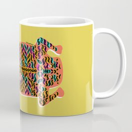 Big Bright Cat | Yellow Coffee Mug
