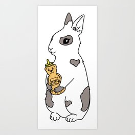 honey bunny  Art Print