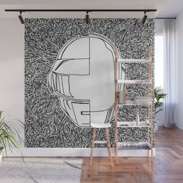 DP RAM abstract line art by melisssne Wall Mural