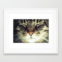 meow Framed Art Prints featuring Meow by BURNEDINTOMYHE∆RT♥
