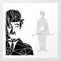 chaplin Art Prints featuring CHAPLIN by ARCHIGRAF