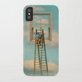 Window cleaner in the sky 02 iPhone Case