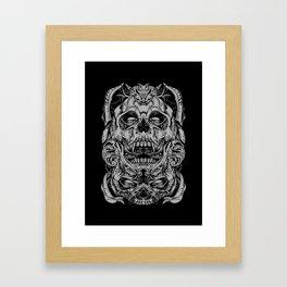 2 FACES SKULL Framed Art Print