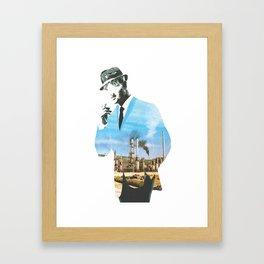 Mad men smokes Framed Art Print