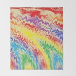 Raging Rainbow Fire Lines Throw Blanket