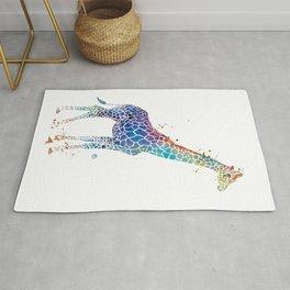 Blue Giraffe Rug