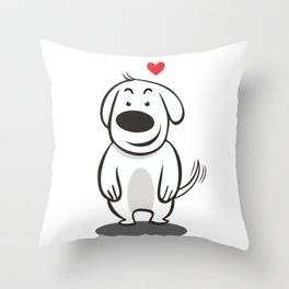 MY FUNNY DOG Throw Pillow