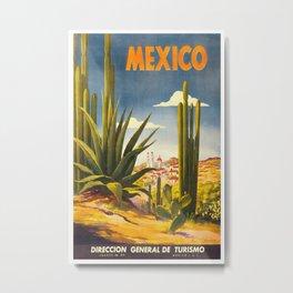 Vintage Travel Poster - Mexico Metal Print