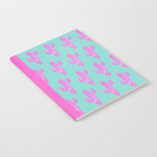 Linocut Cacti Blink Notebook