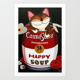 Happy Soup Art Print