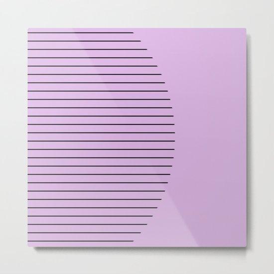 Crescent - Pastel pink and black minimalism Metal Print