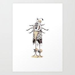 Holy creature shaman costume Art Print