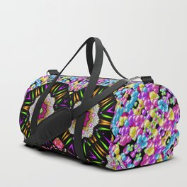 decorative ornate candy with soft candle light for peace Duffle Bag