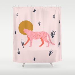 trot cat Shower Curtain