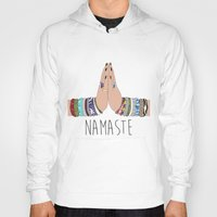 namaste Hoodies featuring Namaste by Serra Kiziltas