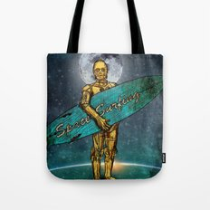 Space Surfer Tote Bag