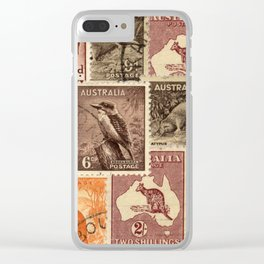 Vintage Australian Postage Stamps Collection Clear iPhone Case