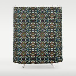ethnic ornament 12 Shower Curtain