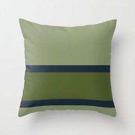 green green blue Throw Pillow