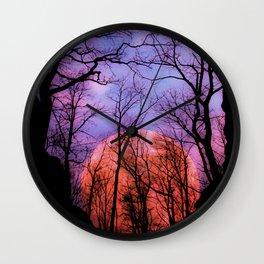 Moonrise Canyon Wall Clock