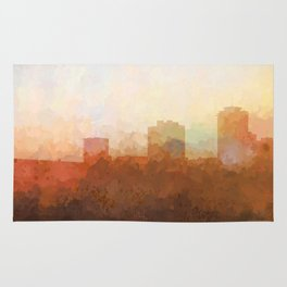 New Orleans, Louisiana Skyline - In the Clouds Rug