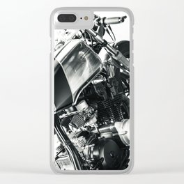 Coffee Racer Clear iPhone Case