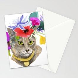 Miss Elsa - gray kitty Stationery Cards