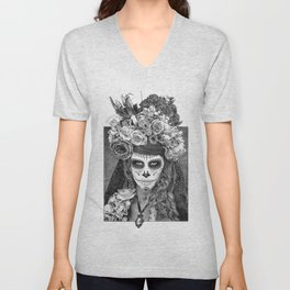 Sugar Skull - Día de Muertos - Day of the Dead Unisex V-Neck