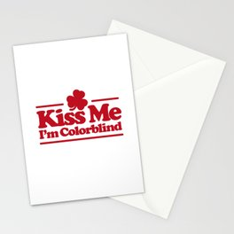 Kiss me I'm colorblind - St. Patricksday Irish Stationery Cards