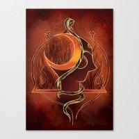 shiva Canvas Prints featuring Shiva by Natália Estevez