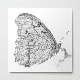 Pale Butterfly Metal Print