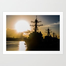 Pearl Harbor Sunrise Art Print
