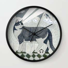 Beaming Cat Wall Clock
