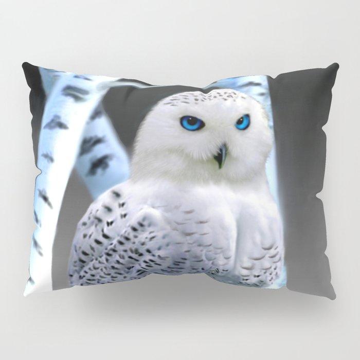 Blue-eyed Snow Owl Pillow Sham
