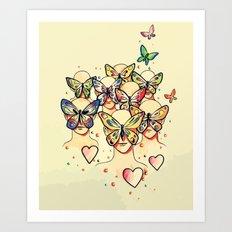 Butterfly Caught Art Print