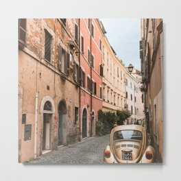 Italy Photography - Narrow Street In Rome Metal Print