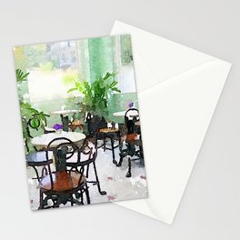 Watercolor Cafe Stationery Cards