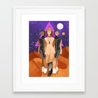 arrakis Framed Art Prints featuring Bene Gesserit by Theresa O'Reilly