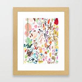 Studio days Framed Art Print