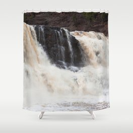 Falls with Iron Content Shower Curtain