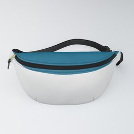 Blue over White Fanny Pack