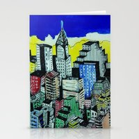 buildings Stationery Cards featuring buildings by Halley's Coma