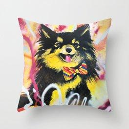 Pomeranian Pop Throw Pillow