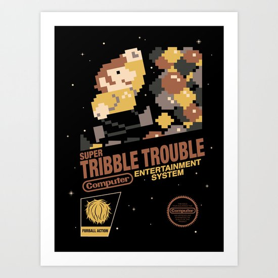 Super Tribble Trouble Art Print