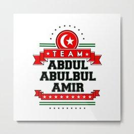 Team Abdul Metal Print
