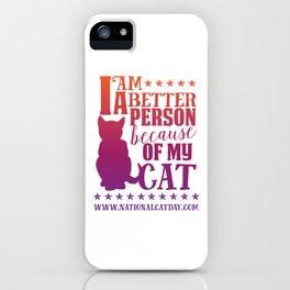 Cat Person iPhone Case