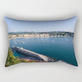 La Concha Bay. Donostia-San Sebastian, Spain. Rectangular Pillow
