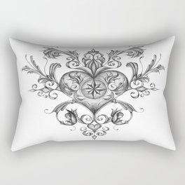 Filigree Love heart. Rectangular Pillow